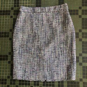 J. Crew Purple Tweed Bellflower Skirt Size 0